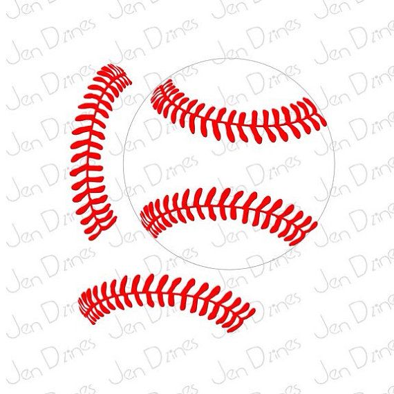 Baseball stitches SVG DXF Softball stitches svg SVG by JenDzines