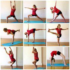 Yoga Series Long Lean Legs #yogapose #yogaseries