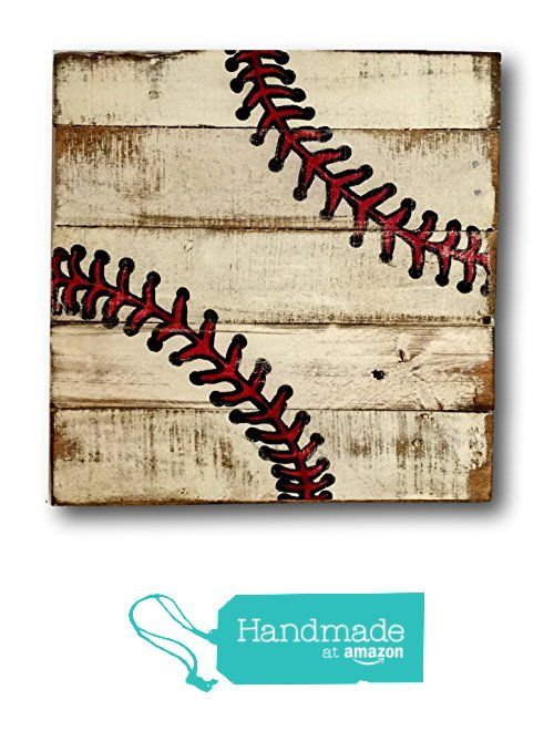 Baseball Sign / Vintage Wood Sports Sign / Boys Bedroom Decor / Vintage Baseball Decor from Pallets and Paint http://www.amazon.com/dp/B01B8IX0NG/ref=hnd_sw_r_pi_dp_eY6ixb03E6HT7 #handmadeatamazon