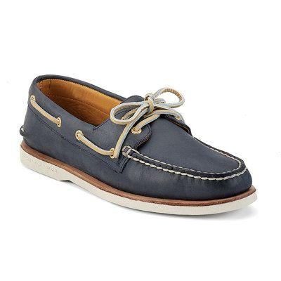 Zapatos de barco ASV de copa dorada para hombres, TAN 9 M