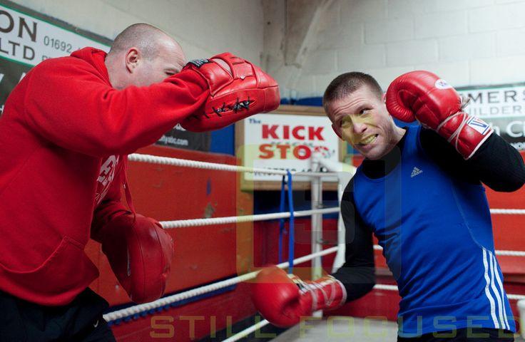 Boxer Michael Walsh with Jon Thaxton