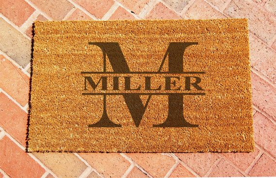 Hey, I found this really awesome Etsy listing at https://www.etsy.com/listing/244321313/custom-laser-engraved-door-mat