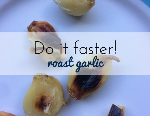 How to roast garlic fast