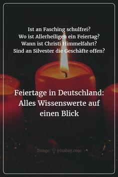Die wichtigsten gesetzlichen Feiertage Deutschlands im Überblick: Ihre Termine, ihre Bedeutung und in welchen Bundesländern sie gelten