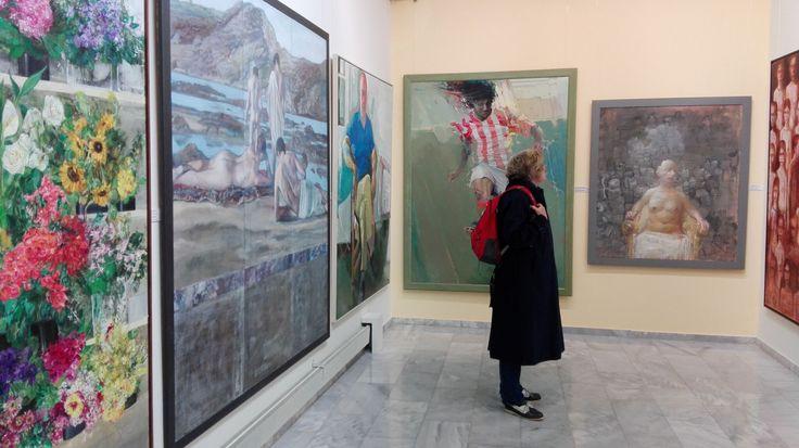 Πινακοθήκη Κουβουτσάκη. Did you know that in Kifissia (Northern Athens suburb and last metro station on Green line) there is an excellent Greek private art gallery you can visit for free? The OMILO students loved it. Check it out at http://www.kouvoutsakis-pinakothiki.gr/ More photos at : https://www.facebook.com/media/set/?set=a.1131625996870948.1073741872.113515072015384&type=3