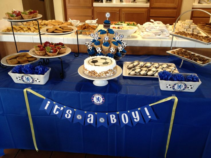 Superior Chelsea Football Themed Baby Shower!