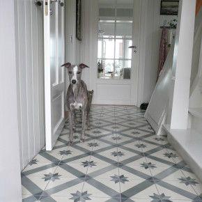 Cement tiles / Sementtilaattaa eteisessä, tassunkestävää! http://www.domusclassica.com/tuotteet/tiilet-ja-laatat/sementtilaatat/620/