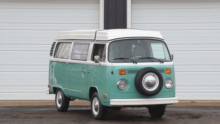 1975 Volkswagen Westfalia Camper presented as Lot F54 at Indianapolis, IN