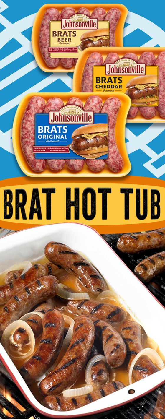 The Johnsonville Brat Hot Tub is what every good cookout, BBQ, tailgate, picnic, and party needs! Your guests can enjoy a piping hot brat anytime without you being stuck to your grill!