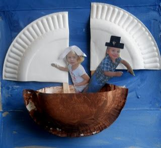 Preschool Crafts for Kids*: Thanksgiving Day Mayflower with Photos Boat Craft