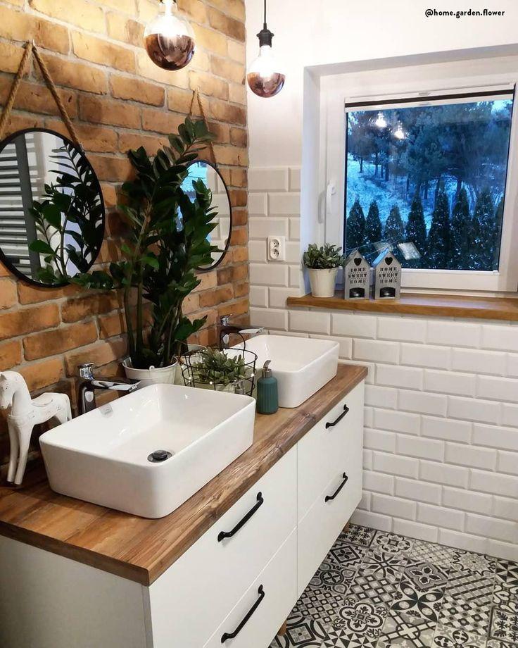 IDEEN FÜR DAS BADEZIMMER 💙 Mit ein paar Tricks verwandeln Sie Ihr Badezimmer in einen kleinen privaten Wellnessbereich. Wählen Sie neutrale Farben, warmes Licht, …