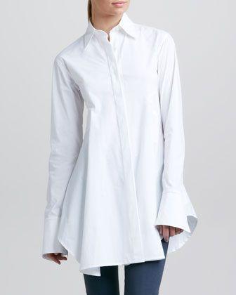 Long White Shirt - contemporary fashion // Donna Karan