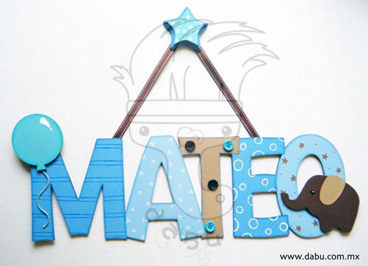 Nombre personalizado azul // Costum name blue  Blue elephant