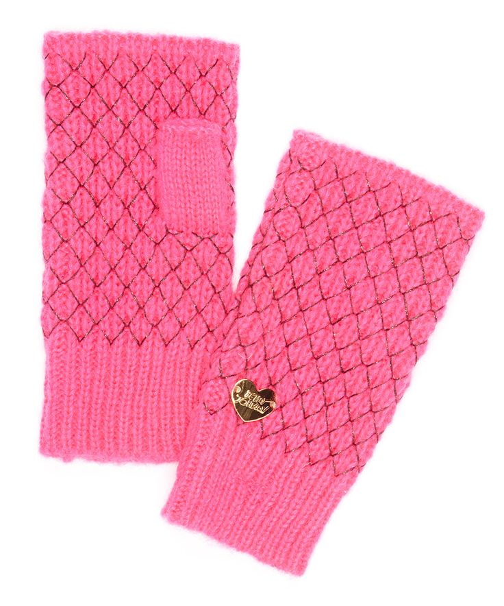 This Neon Pink Net Worth Fingerless Gloves by Betsey Johnson is perfect! #zulilyfinds