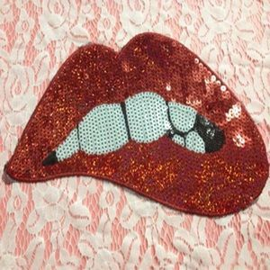 Cheeky Jackets & Blazers -  Sequence large lips  Sewn on  Patch