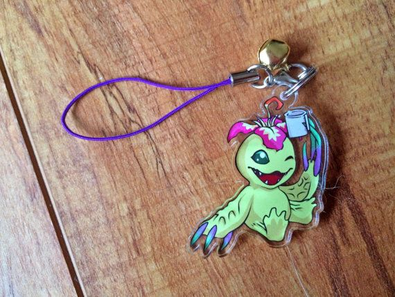 Palmon++Digimon+Phone+Charm+by+Linai+on+Etsy