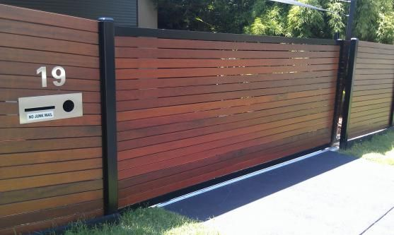 Image result for front fence ideas with gate entrance