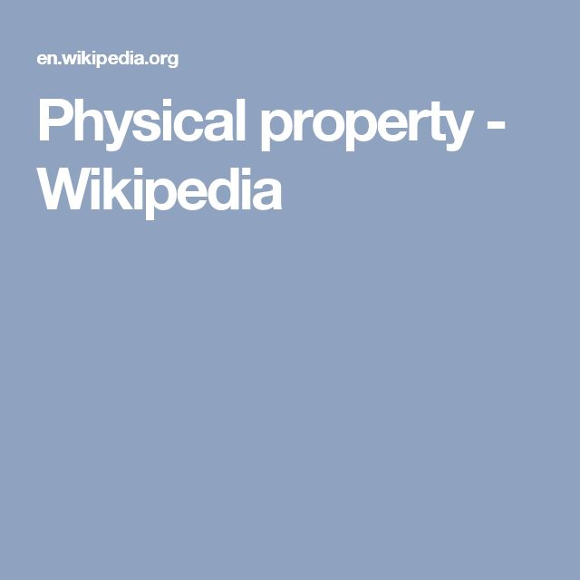 Physical property - Wikipedia