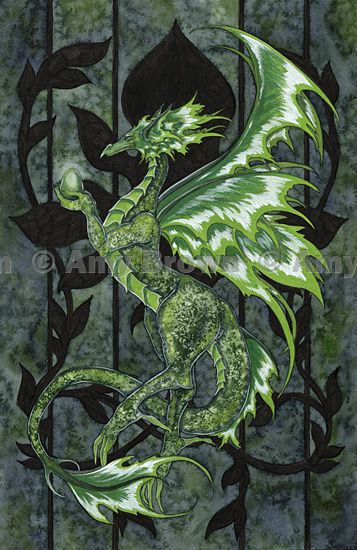 Amy Brown: Fairy Art - The Official Gallery - Peridot Dragon... which just happens to be my birthstone!