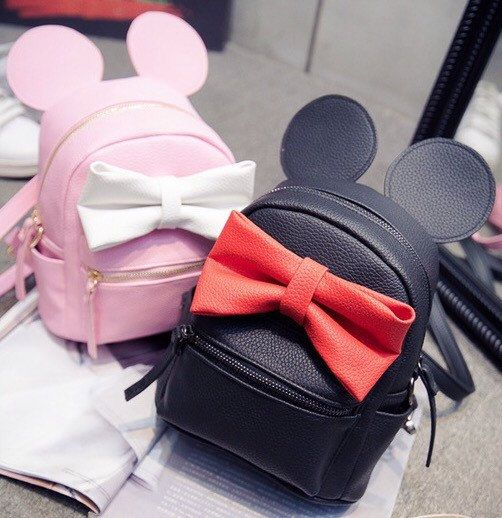Monogram mouse ear backpack Minnie Mouse by SewDarlingMonograms