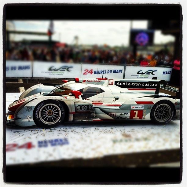 2012 Le Mans winner!!! #24lm #24heuredumans #lemans #audi #audisport24Heureduman Lemans, Lemans Audi, Le Man