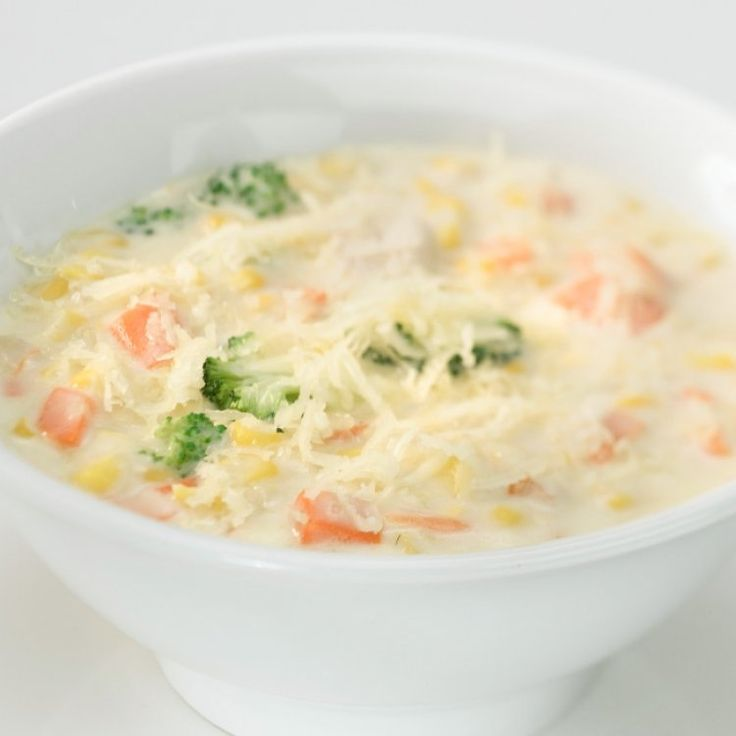 Chaudrée de poulet aux légumes et au fromage Le Mamirolle