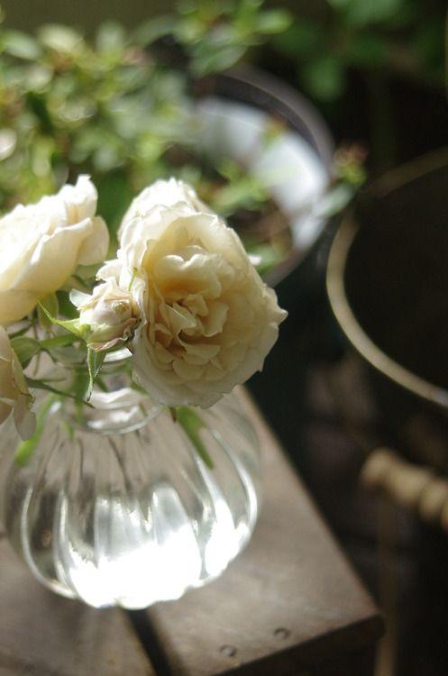 いおりを花瓶に。