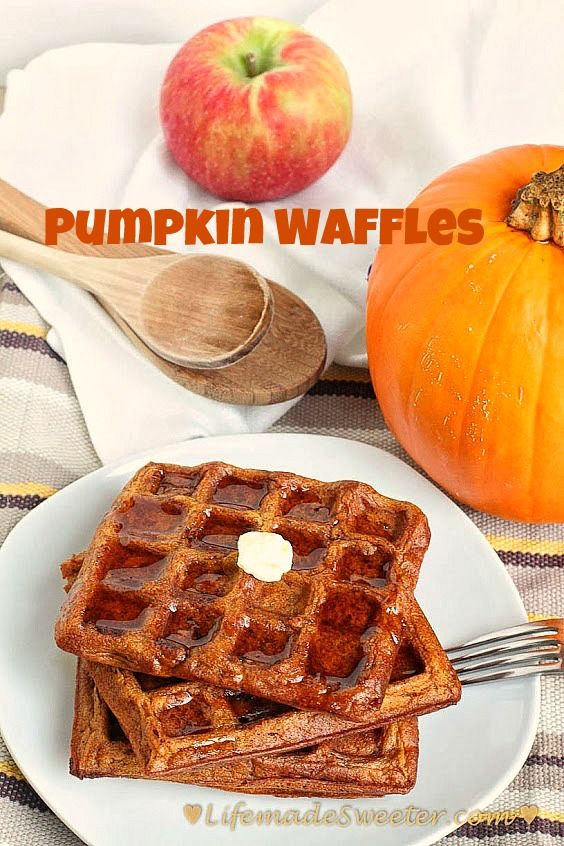 Pumpkin Waffles | Food | Pinterest