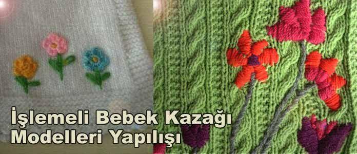 işlemeli bebek kazak modelleri yapılışları