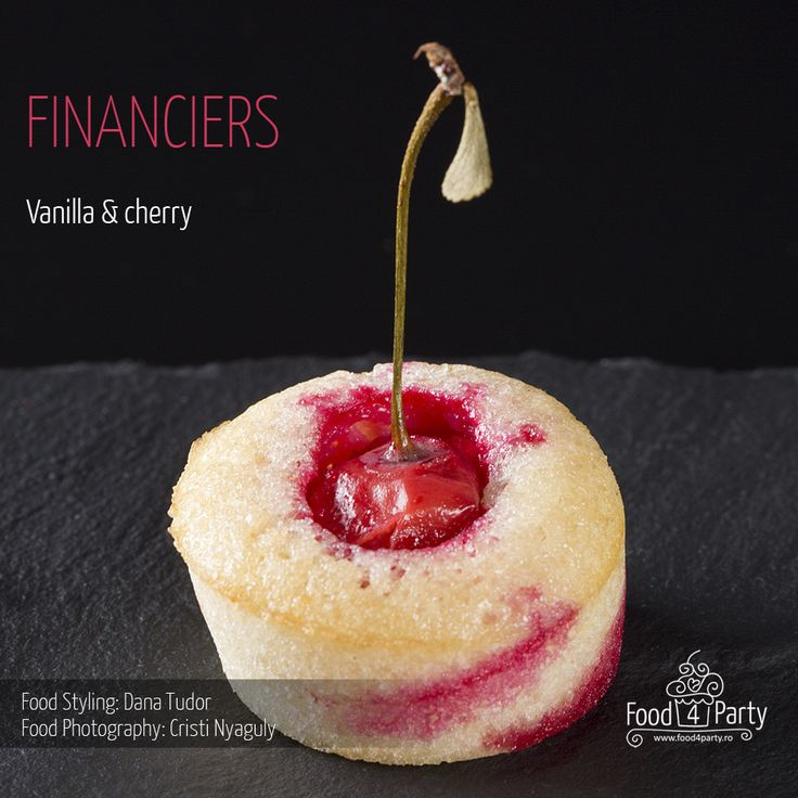 Financiers vanilla cherry