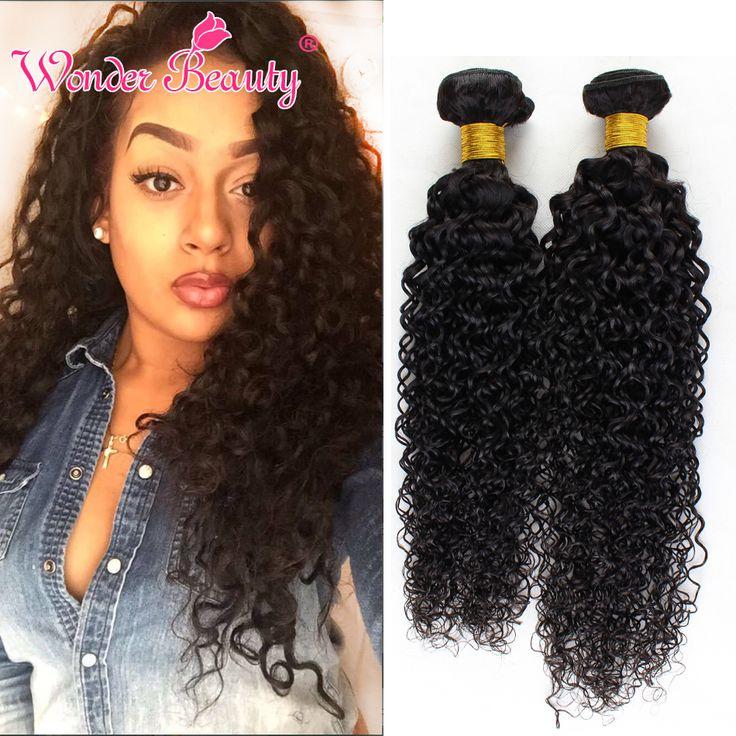 Malaisiens Bouclés Cheveux 4 Pcs Vierges Malaisiens Crépus Bouclés de Cheveux Humains Tisse Wonder Beauté Malaisienne Vierge Cheveux Bundles 1B