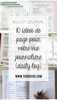 10 idées de page Daily log pour votre bullet journal