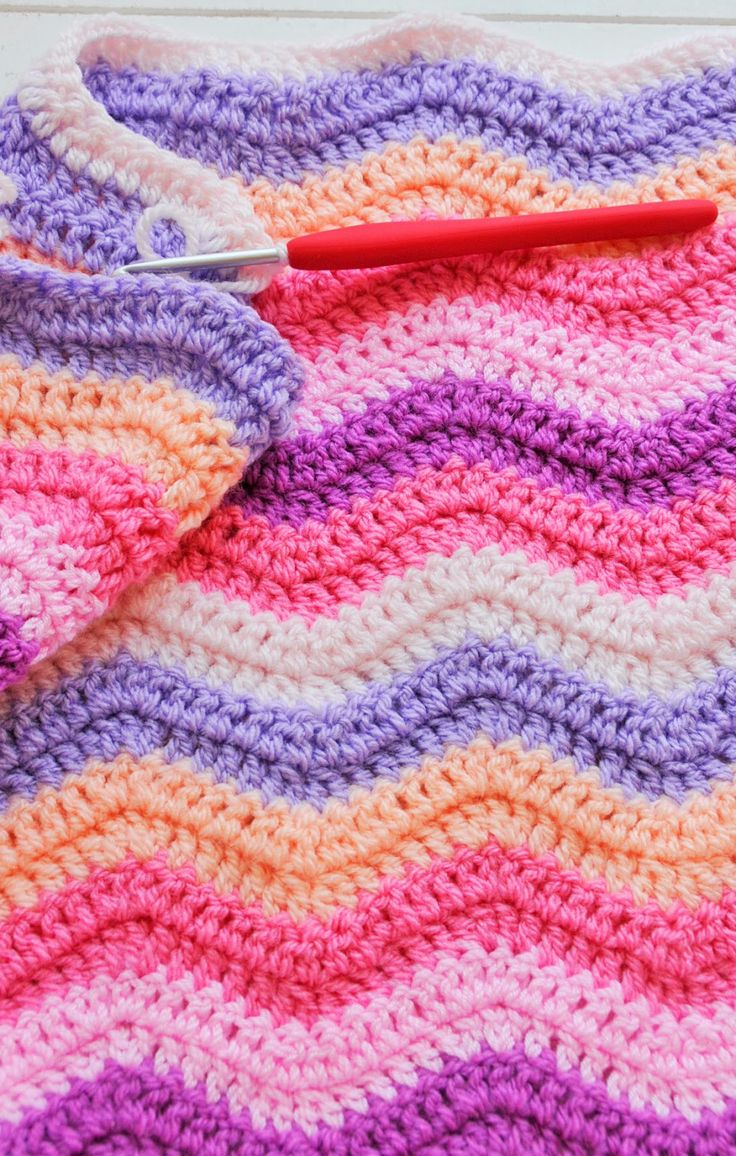 97 best Crochet Ripple Blanket images on Pinterest | Wellendecke ...
