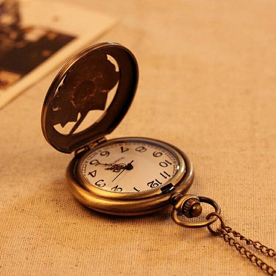 Bronze Flowers Pocket Watch by SaltLily on Etsy