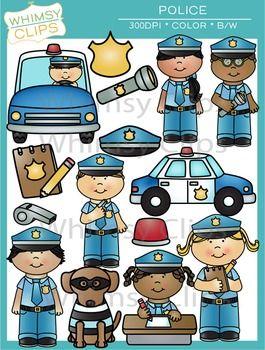 Police Clip Art by Whimsy Clips | Teachers Pay Teachers