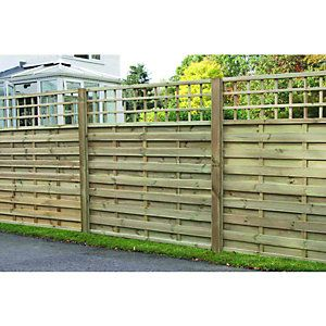 Wickes Hertford Fence Panel 1.8m x 1.8m Integrated Trellis - paint white?
