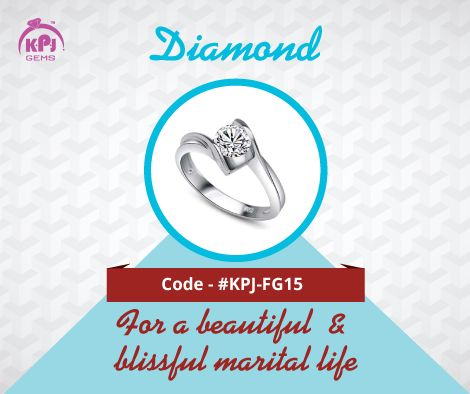 Sukra or Venus represents luxuries, partnerships, wealth, beauty, arts, comforts, jewellery, happiness and vehicles. The precious Diamond harmonizes the effects of Sukra. Code - ‪#‎KPJ‬-FG15 For More Details Visit - http://goo.gl/tHcf5f ‪#‎Diamond‬ ‪#‎FancyGems‬ ‪#‎GemStones‬