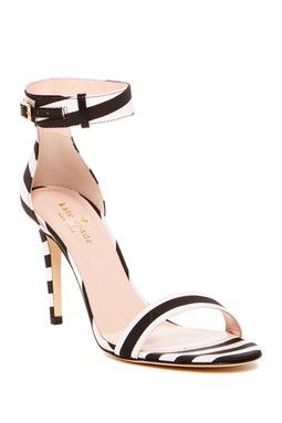 Isa Striped Heel Sandal-Kate Spade