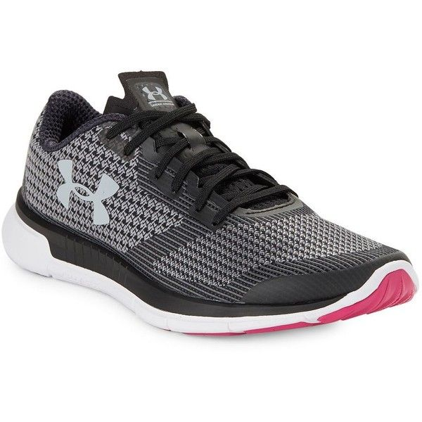 Under Armour Women's Women's Charged Lightning Running Shoes ($63) ❤ liked on Polyvore featuring shoes, athletic shoes, black white, laced up shoes, platform running shoes, laced shoes, under armour and under armour footwear