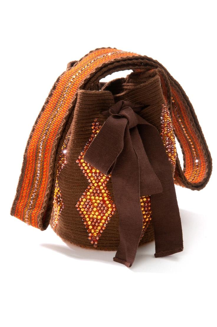 Juyaa Mochila Bag from the #SilviaTcherassi Wayúu Collection. Crystallized with Swarovski crystals.