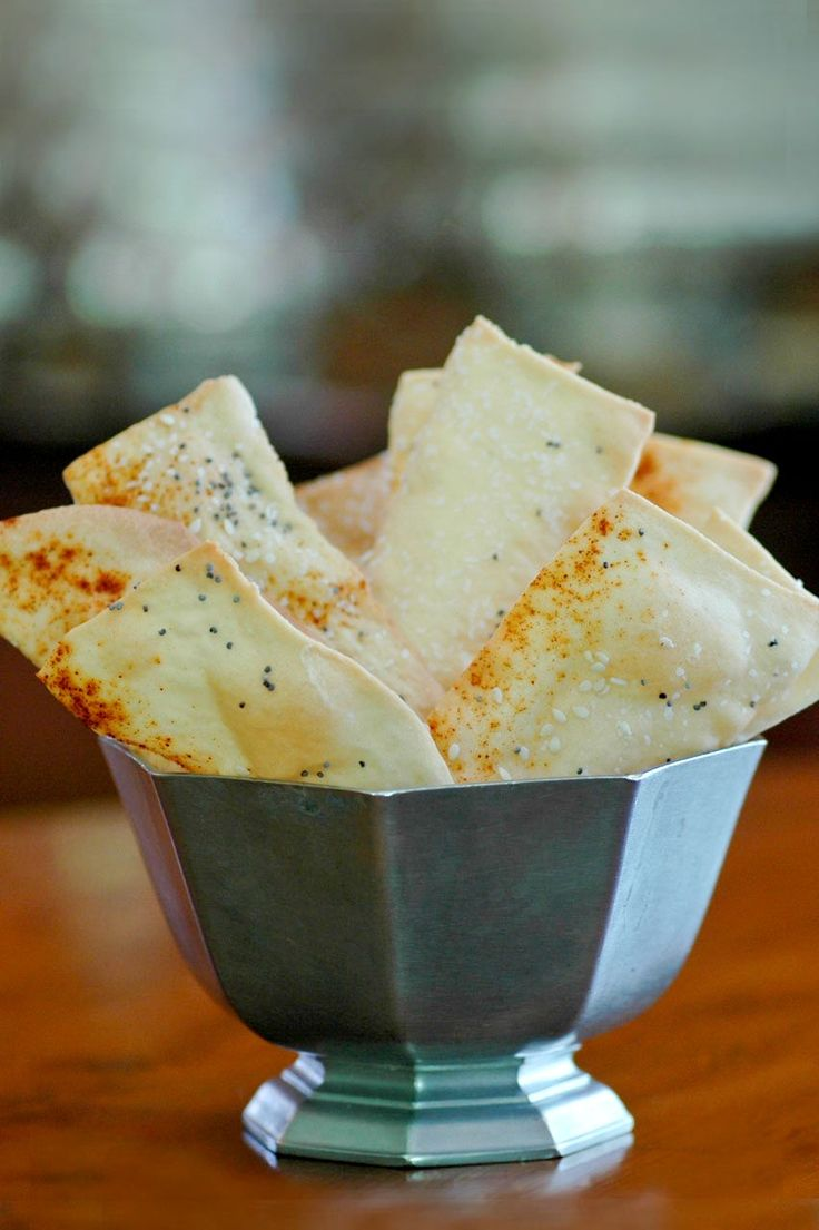 Homemade lavash crackers!  I made these crackers last weekend and I was so pleased with they way they turned out. My pasta roller attac...