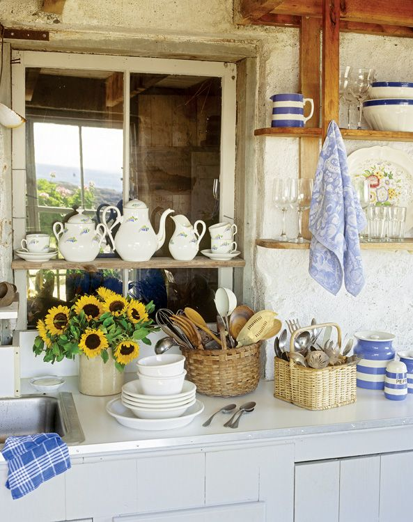 451 best images about cottage interiors on pinterest the for Country outdoor kitchen
