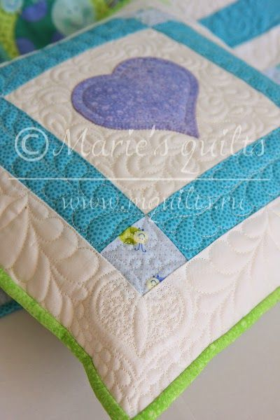6.  For each pillow, I used a different individual picture, but also the individual stitches.