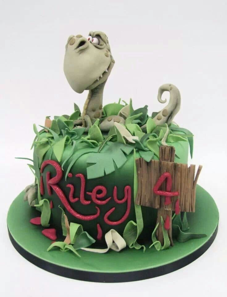 Popping out the cake but with a 'girly' dragon and some shoes, pearls and decoration on the board?