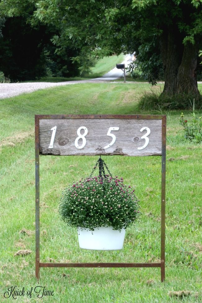 Repurposed rustic house numbers sign - www.knickoftime.net
