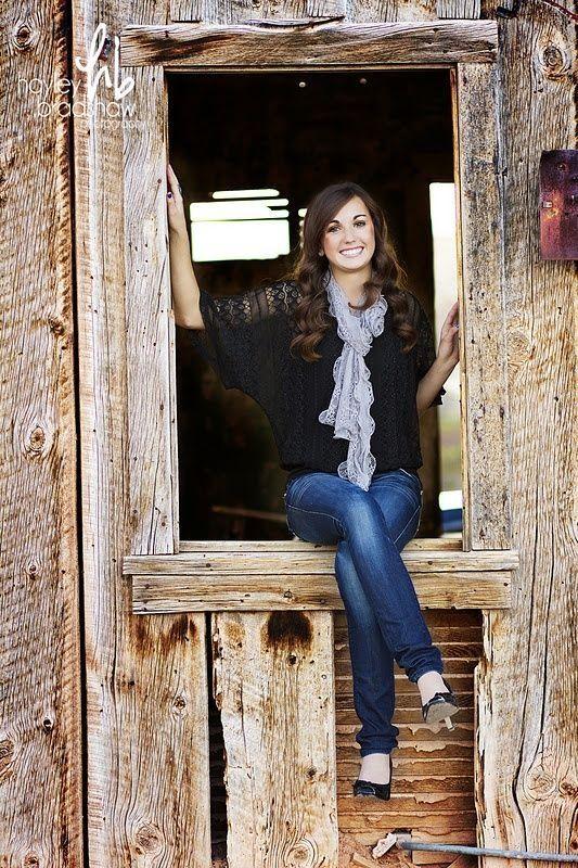 Senior picture idea in a barn