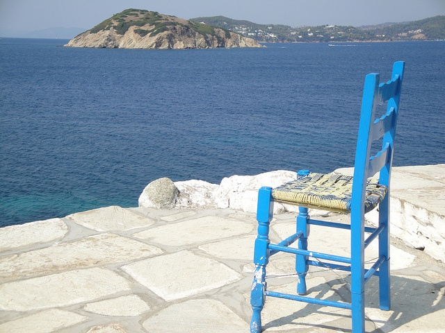 Skiathos Tsougrias Island Church, Greece #island #beach #chair