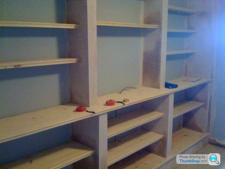 Diy alcove shelving pistonheads bathroom pinterest for Bathroom alcove shelves