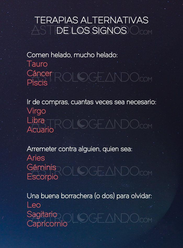 Terapias alternativas de los signos #Astrología #Zodiaco #Astrologeando