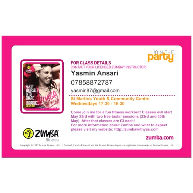Join me May 23rd and May 30th for some free taster sessions!! #zumba